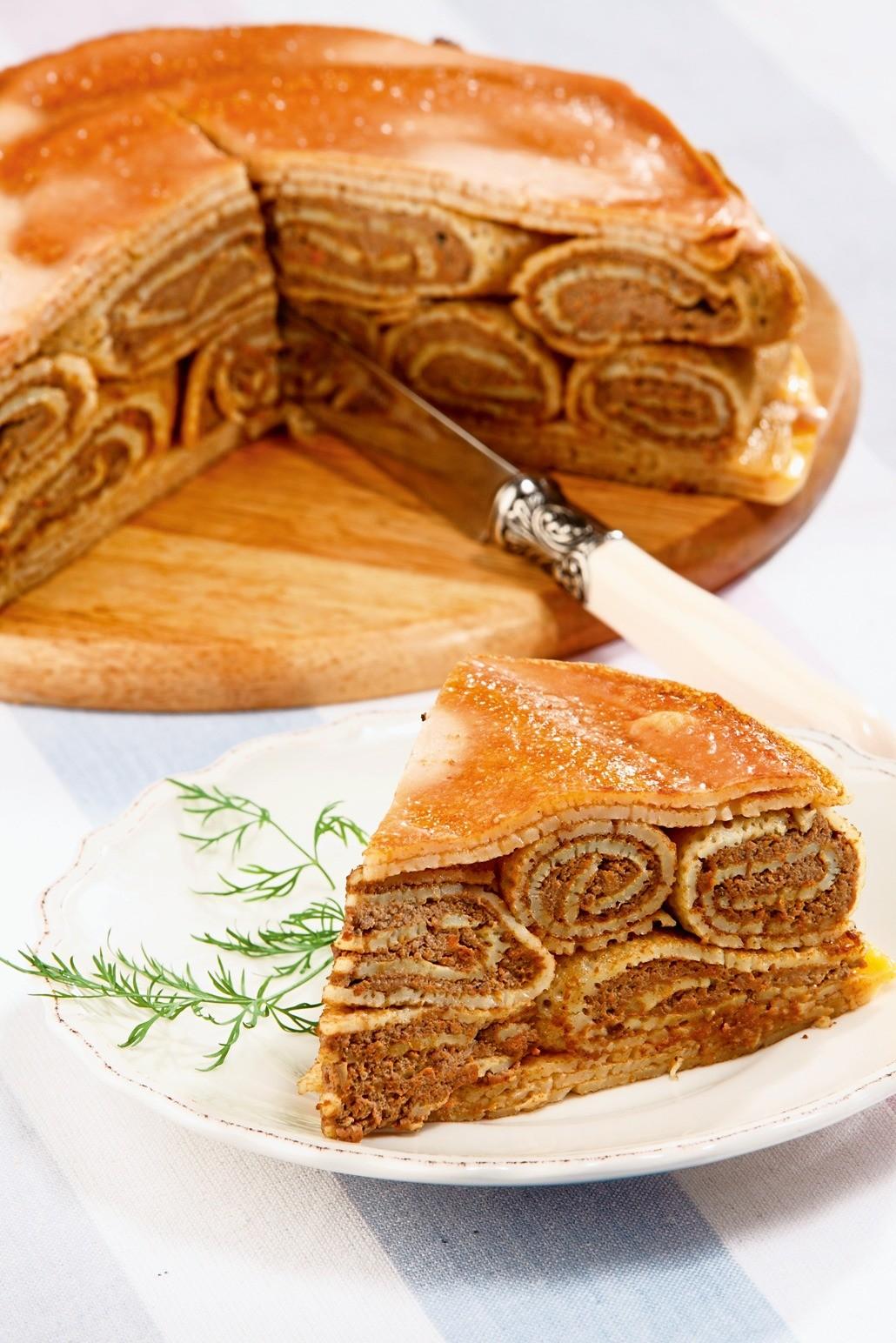 Вместо сладкого: рецепт блинного пирога