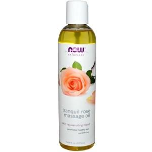 Расслабляющее розовое масло для массажа Now Foods, Solutions