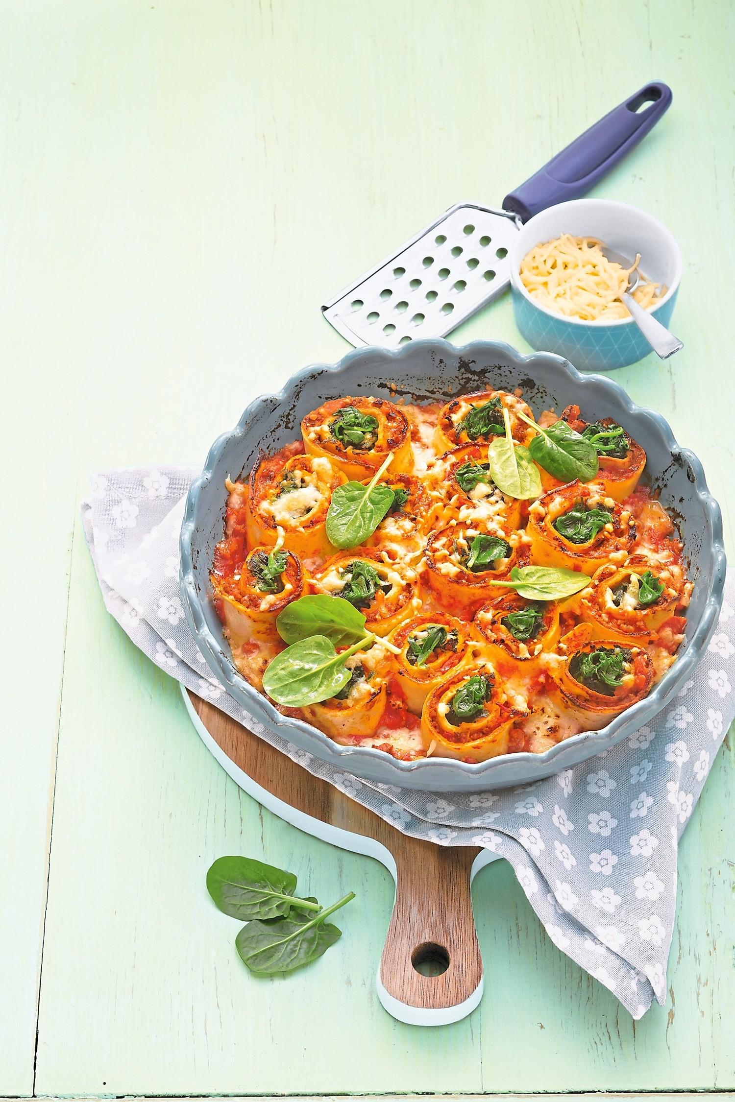 Низкокалорийный ужин: рецепт запеканки со шпинатом и томатами