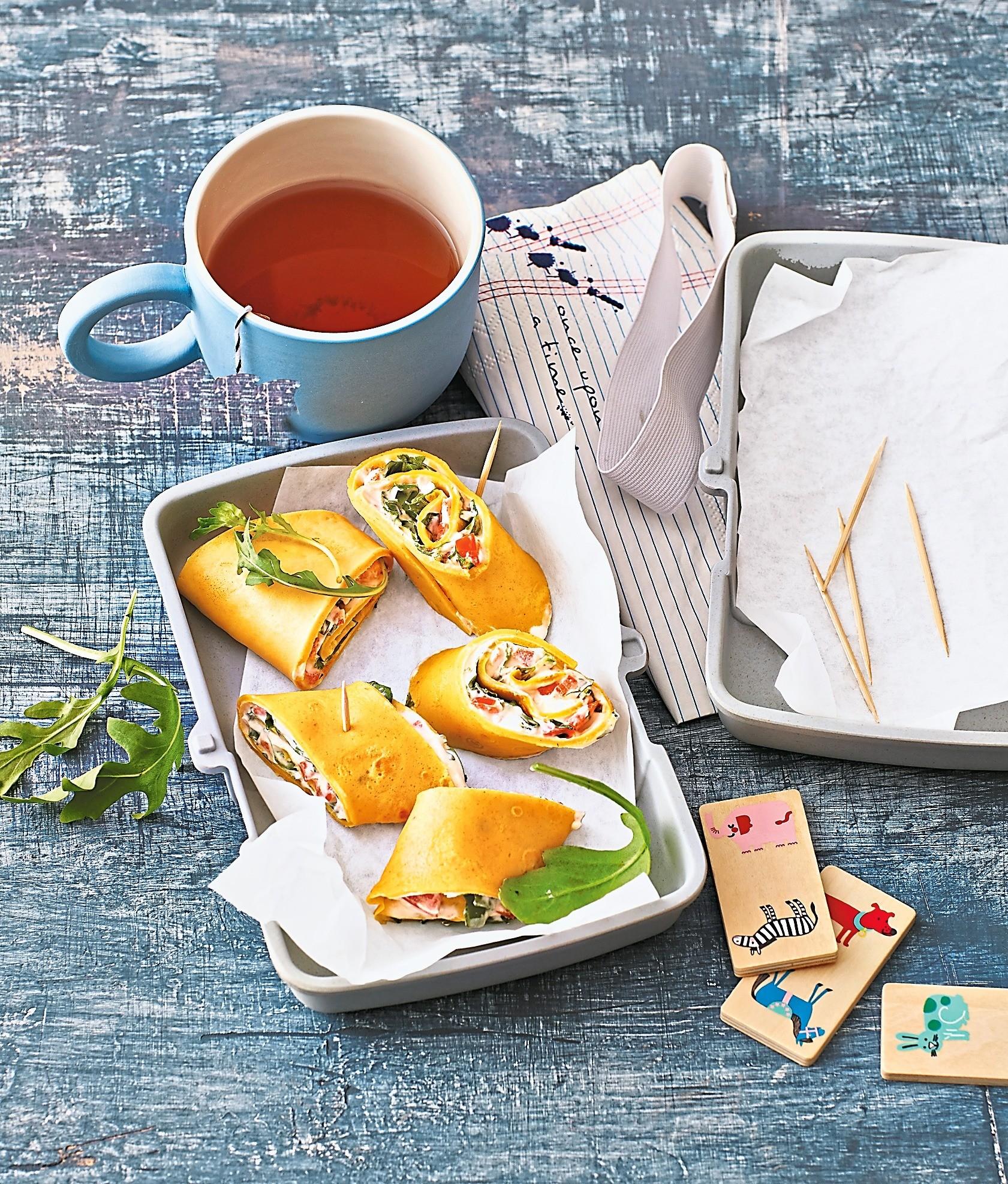 Обед на бегу: рецепт роллов с сыром