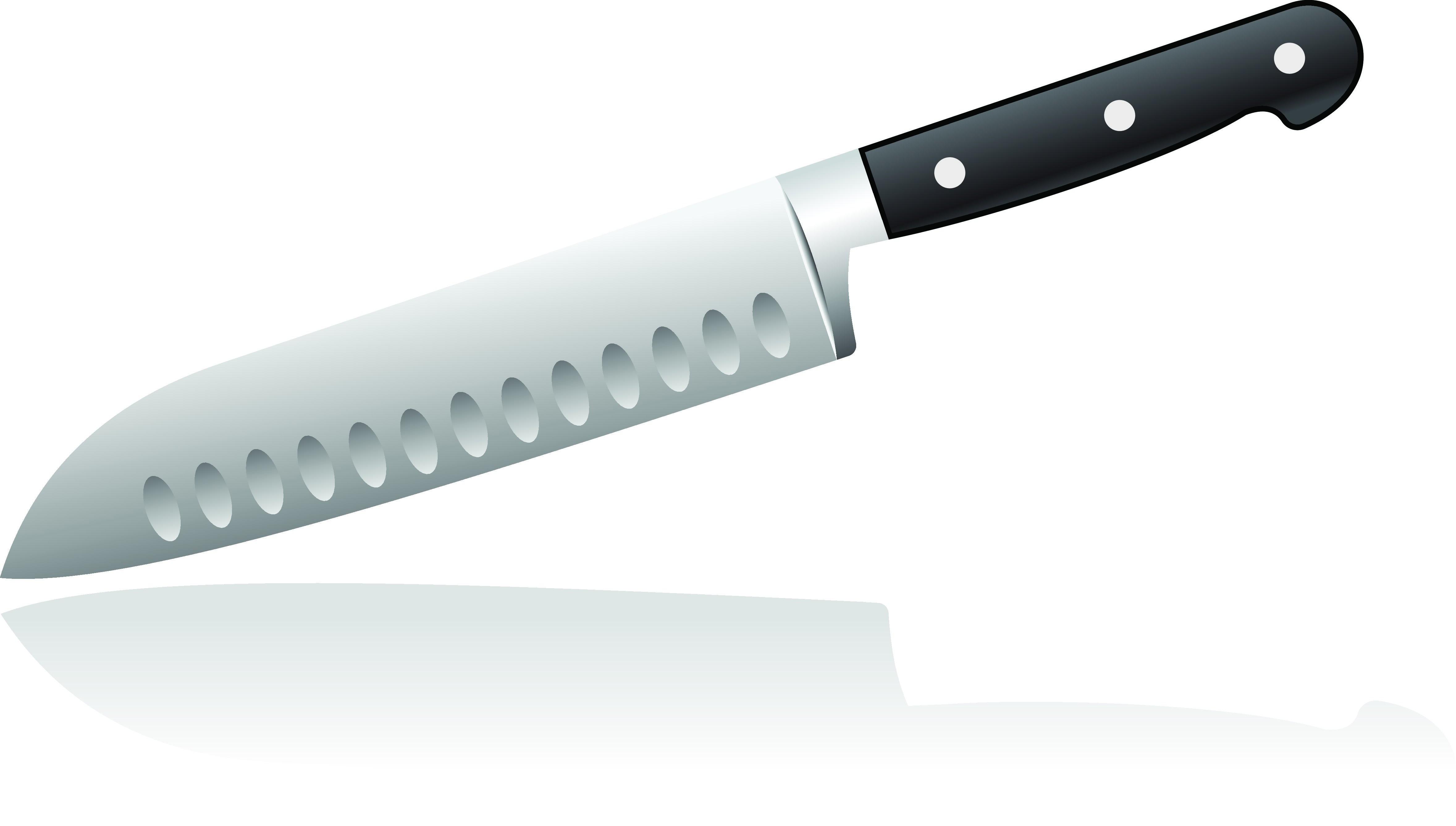 Широкий с насечками — универсальный нож. Разновидность пришла к нам из Азии. Им удобно работать с нарезкой любых овощей, мяса и рыбы, например надсечки на ноже не позволяют ломтикам сыра...