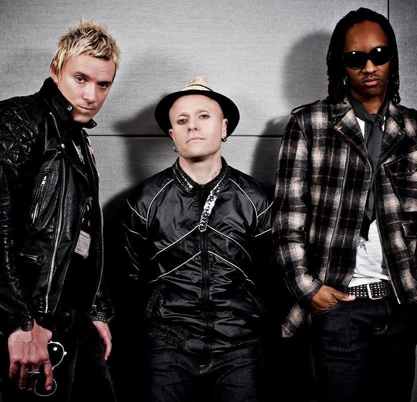 The Prodigy. Слева направо: Лиам Хоулетт, Кит Флинт и Максим Реалити