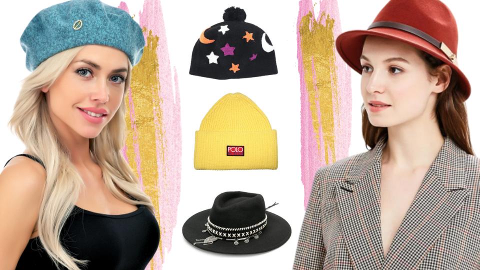 25 стильных головных уборов на весну: от повязок до шляп