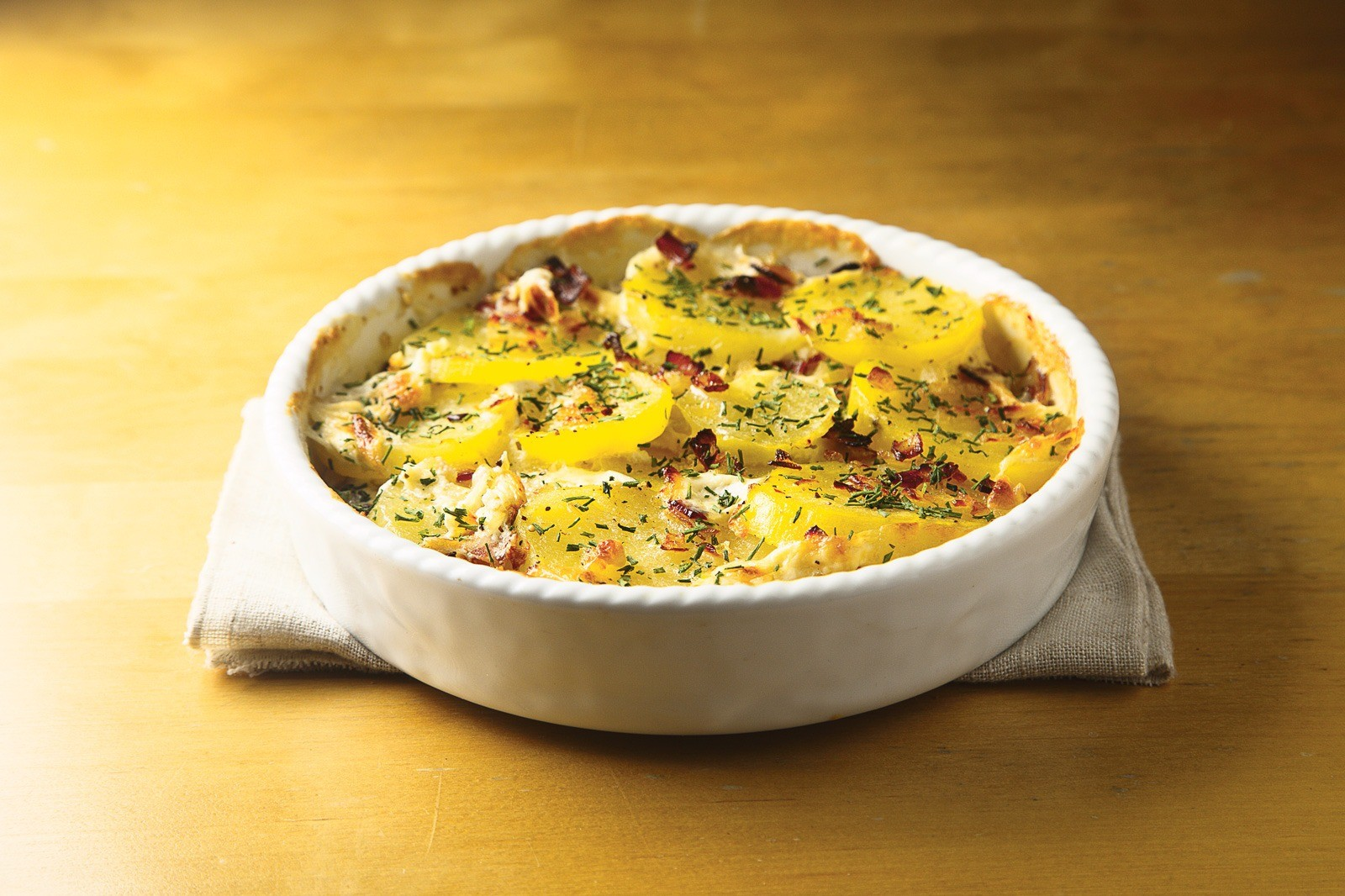 Русский ужин: рецепт картофеля в сливках