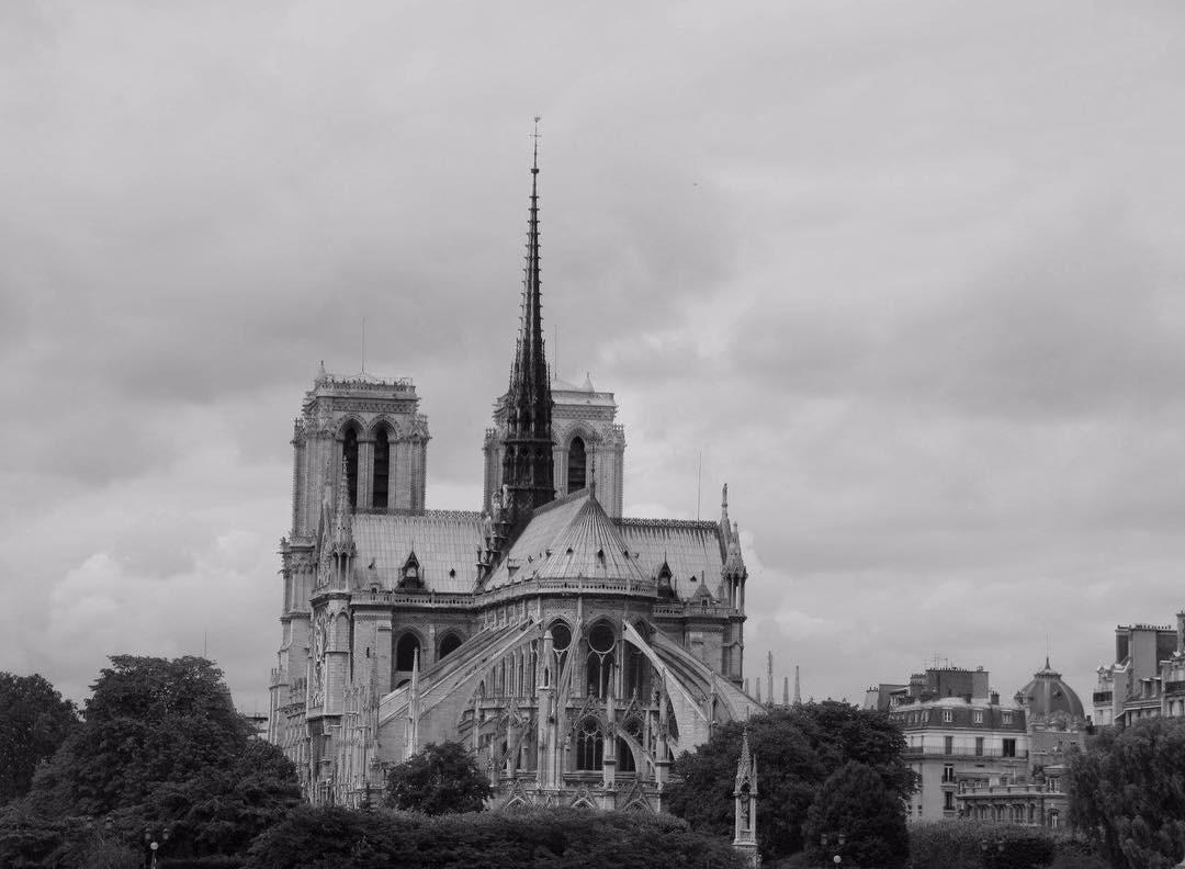 Во Франции горит Собор Парижской Богоматери