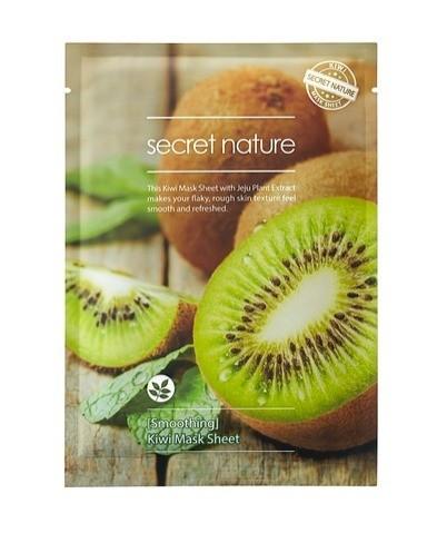 Выравнивающая маска для лица с киви Kiwi Mask Sheet Smoothing, Secret Nature
