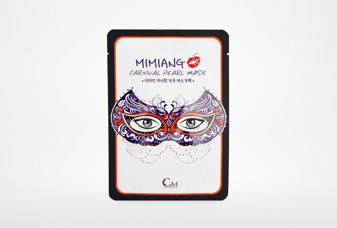 Карнавальная маска с экстрактом жемчуга, Mimiang Honey