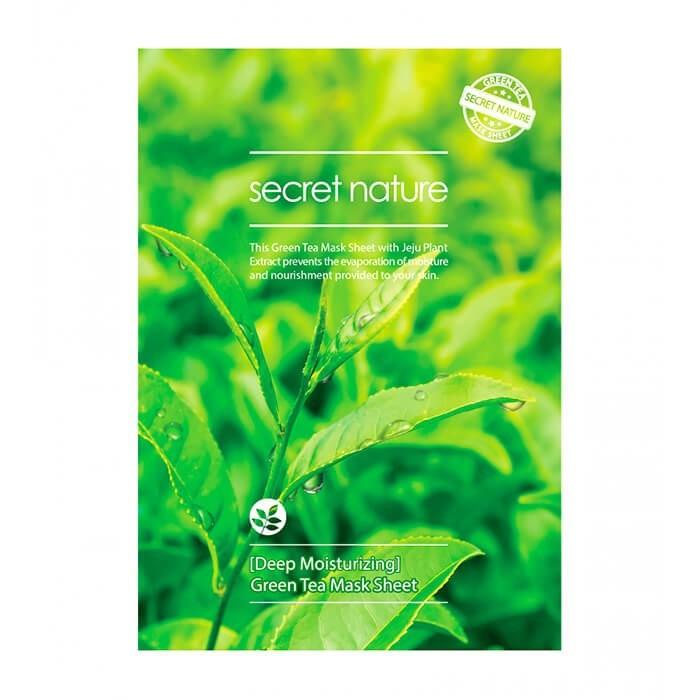 Увлажняющая маска с экстрактом зеленого чая, Secret Nature