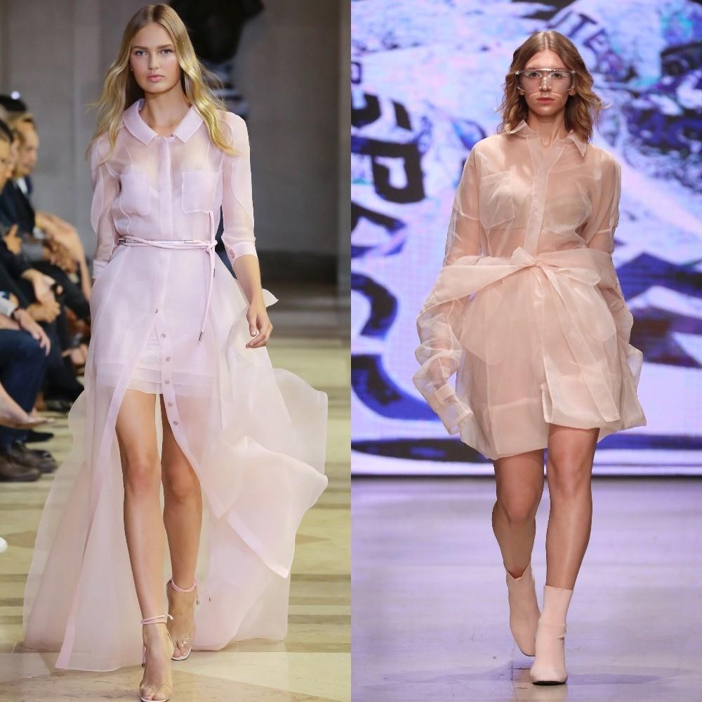 Не знаем, как ты, а мы и дизайнер платья справа хорошо помним показ Carolina Herrera весна-лето 2016.