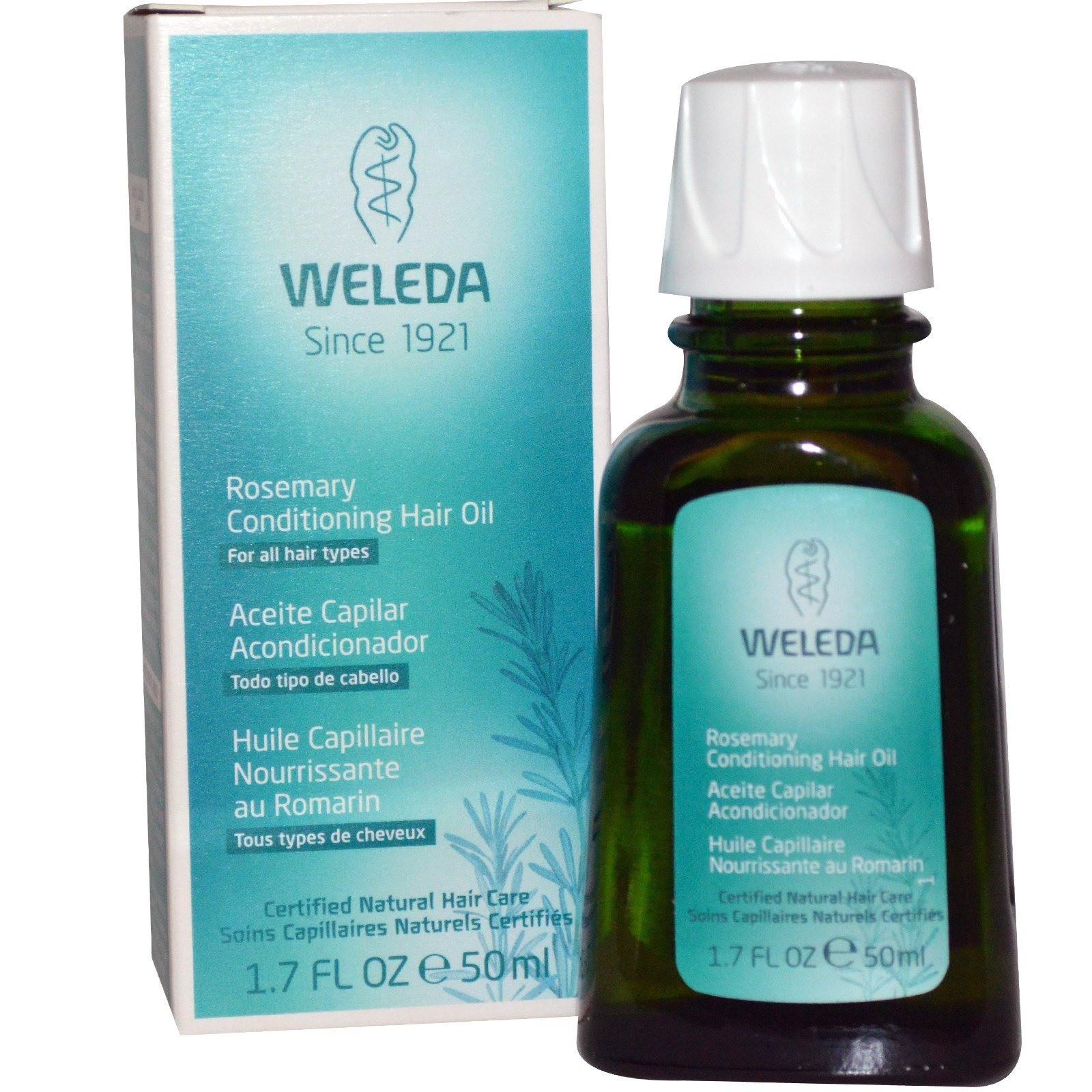 Масло для волос с эфирным маслом розмарина Rosemary Hair Oil, Weleda