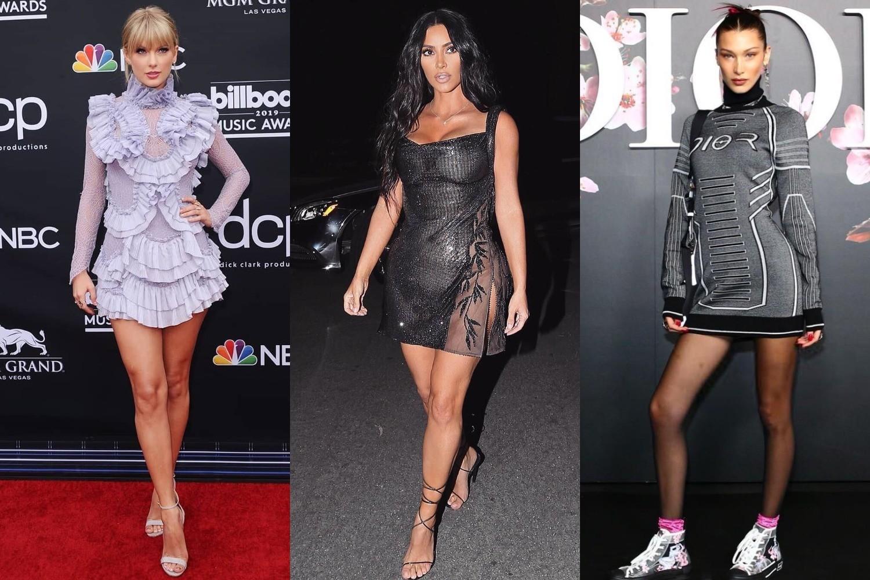 Какие мини-платья выбирают звезды и с чем их носят