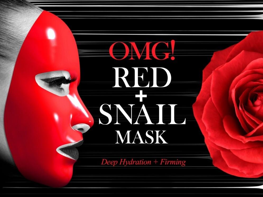 Тканевая маска с муцином улитки OMG! Red + Snail Mask, Double Dare