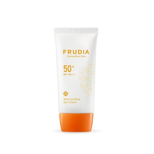 Солнцезащитная тональная крем-основа для сияния кожи SPF 50, Frudia