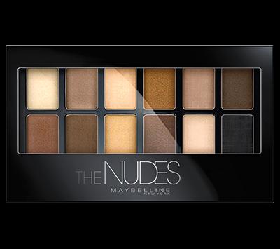 Палетка теней The Nudes, Maybelline New York