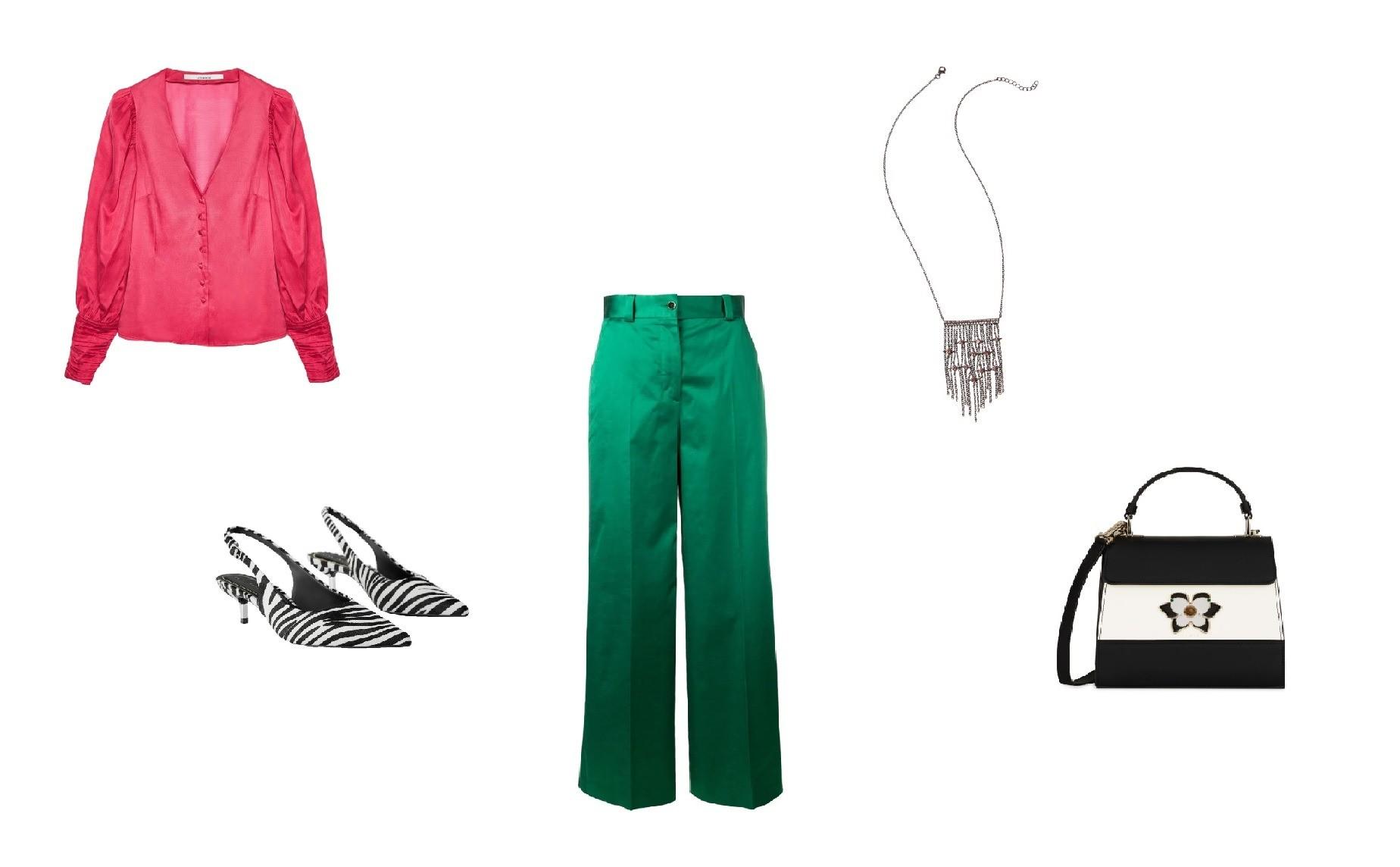 Блуза Uterque, 9 290 руб.; брюкиPt01, 15 422 руб.; туфли...