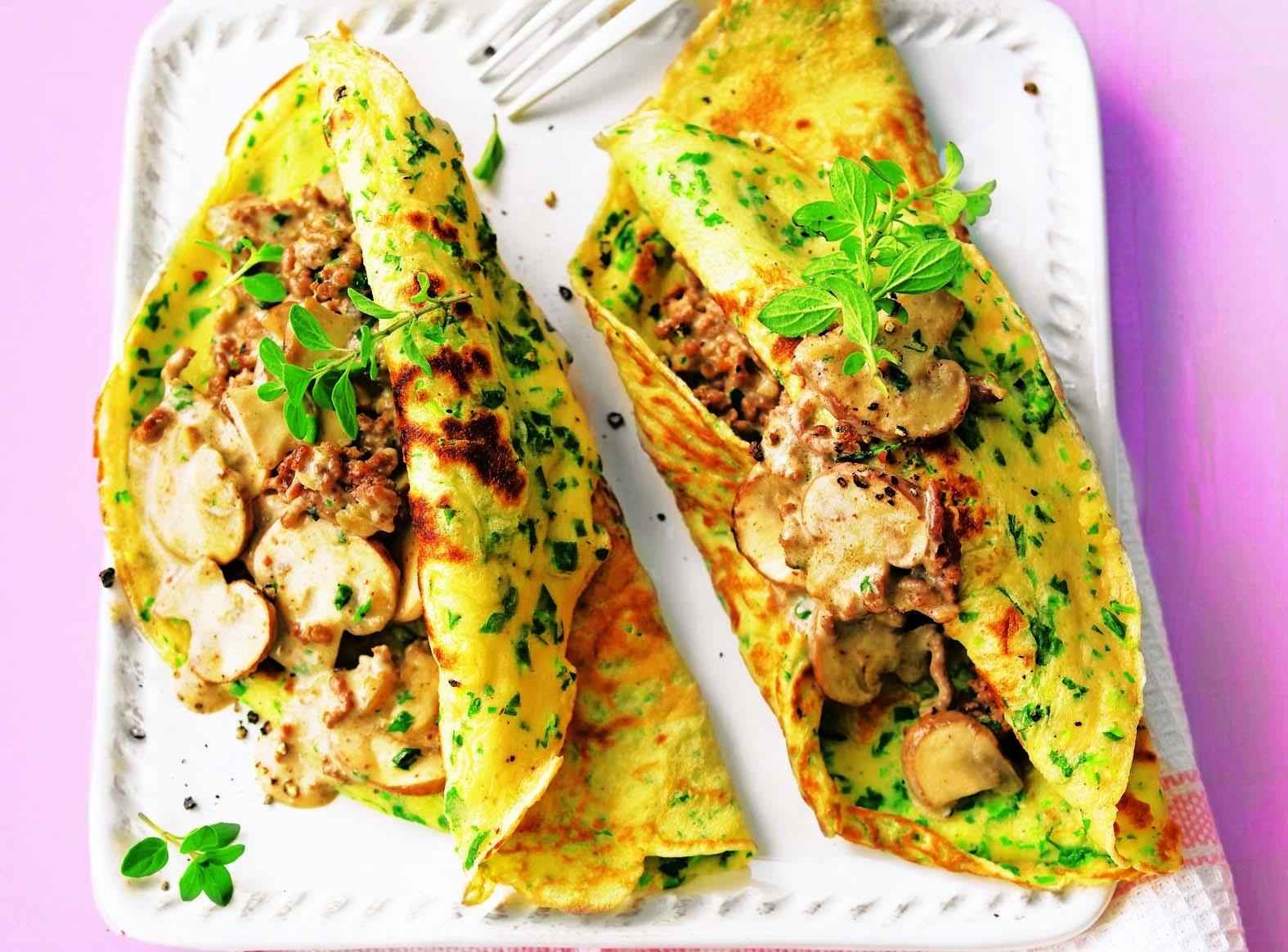 Приготовь завтрак с вечера: рецепт блинчиков с шампиньонами