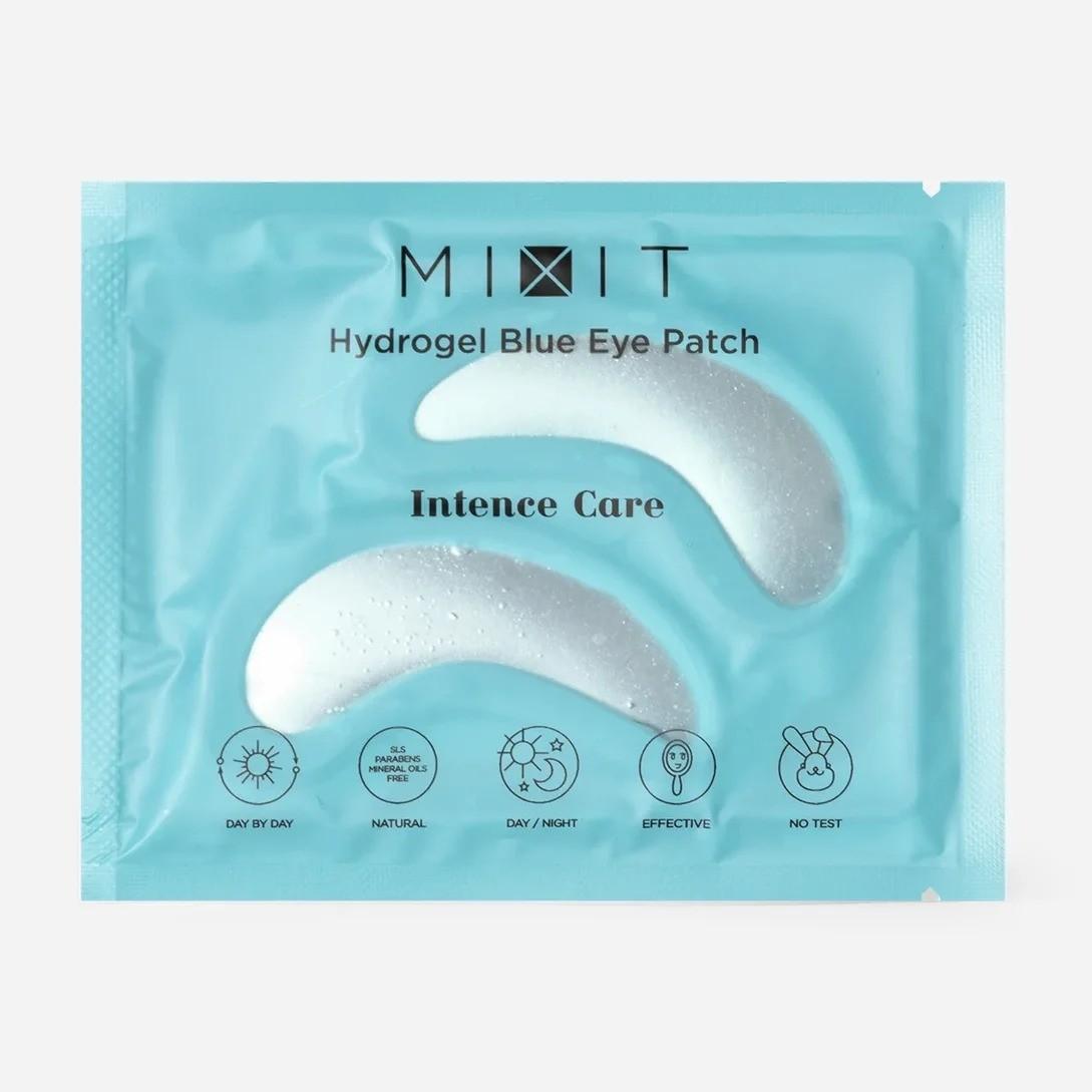 Гидрогелевые патчи для кожи вокруг глаз Hydrogel Blue Eye Patch, Mixit