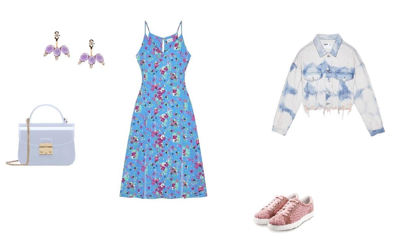 Платье I Am Studio, 9 900 руб; кеды SCHOOL-77, 6 360 руб.; джин ...