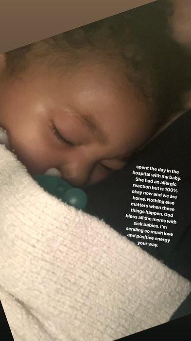 Дочь Кайли Дженнер срочно госпитализировали из-за приступа аллергии