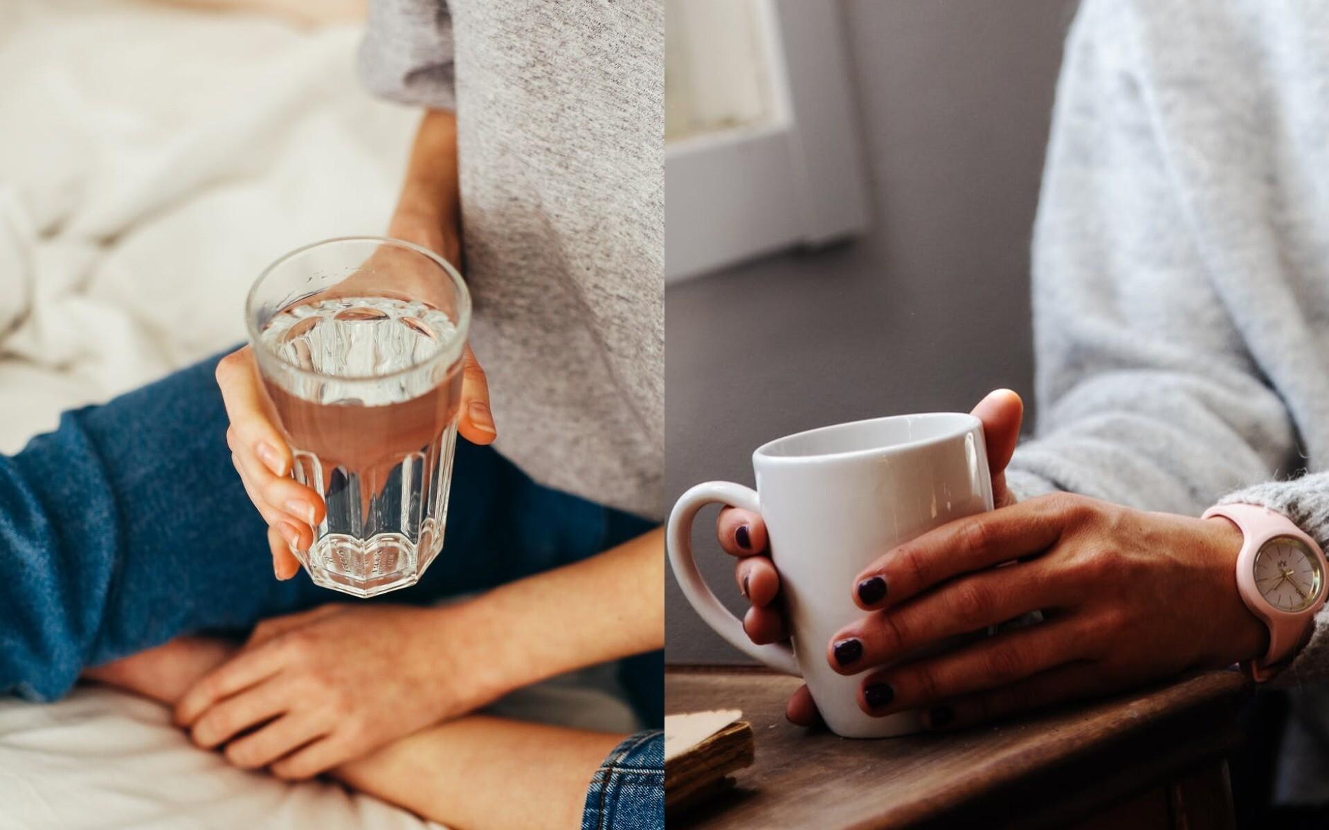 Вода или зеленый чай