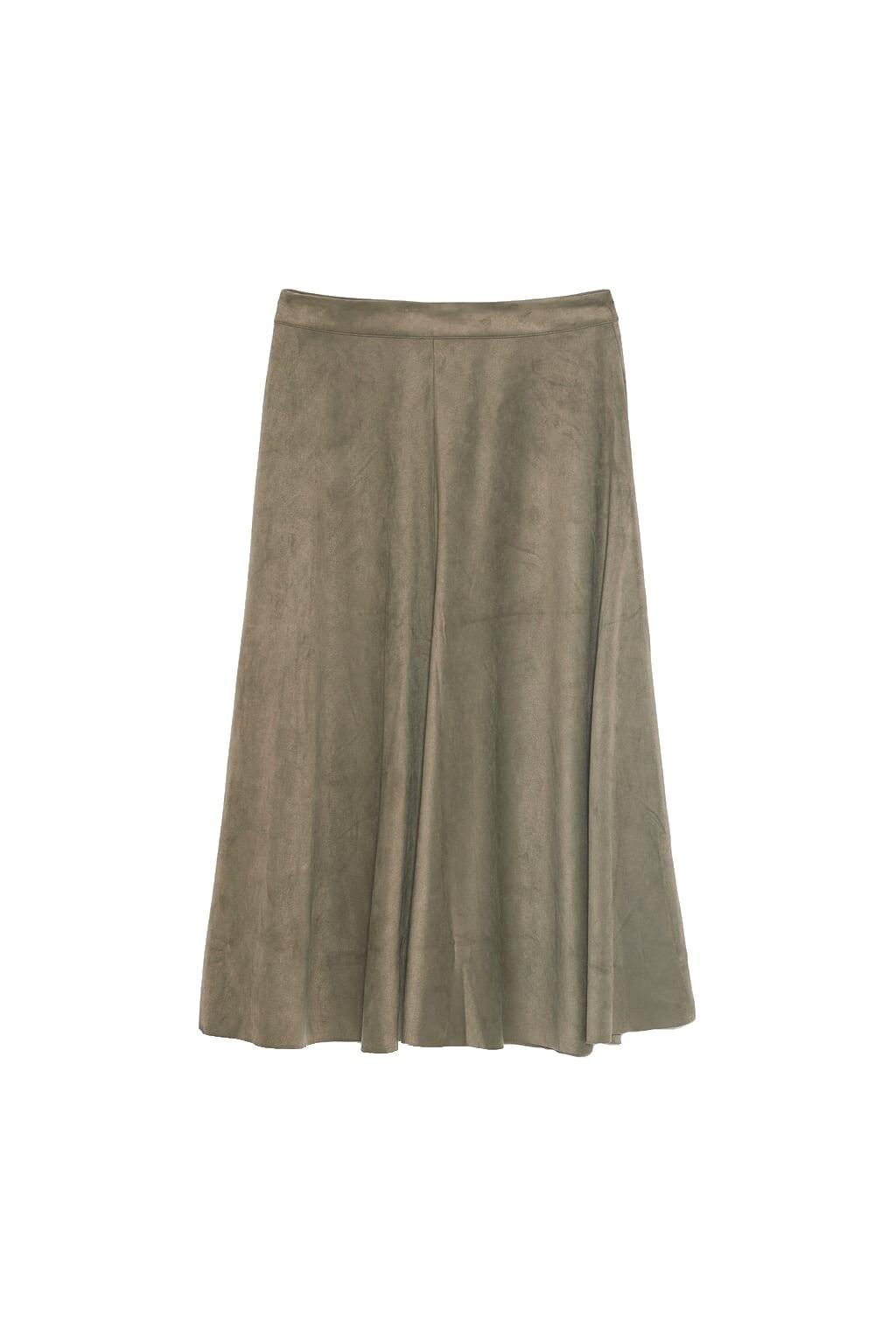 Миди-юбка холодного оливковог&#...