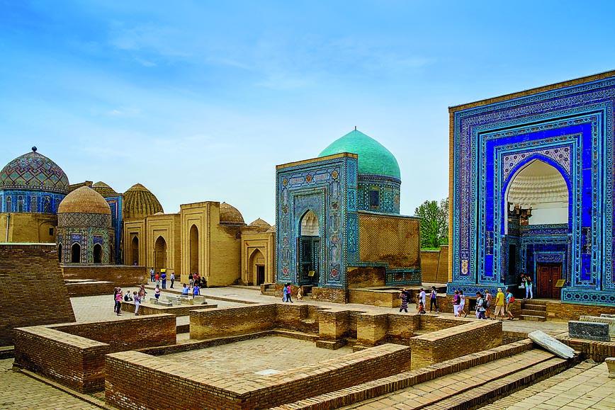 Shah-I-Zinda memorial complex, necropolis in Samarkand