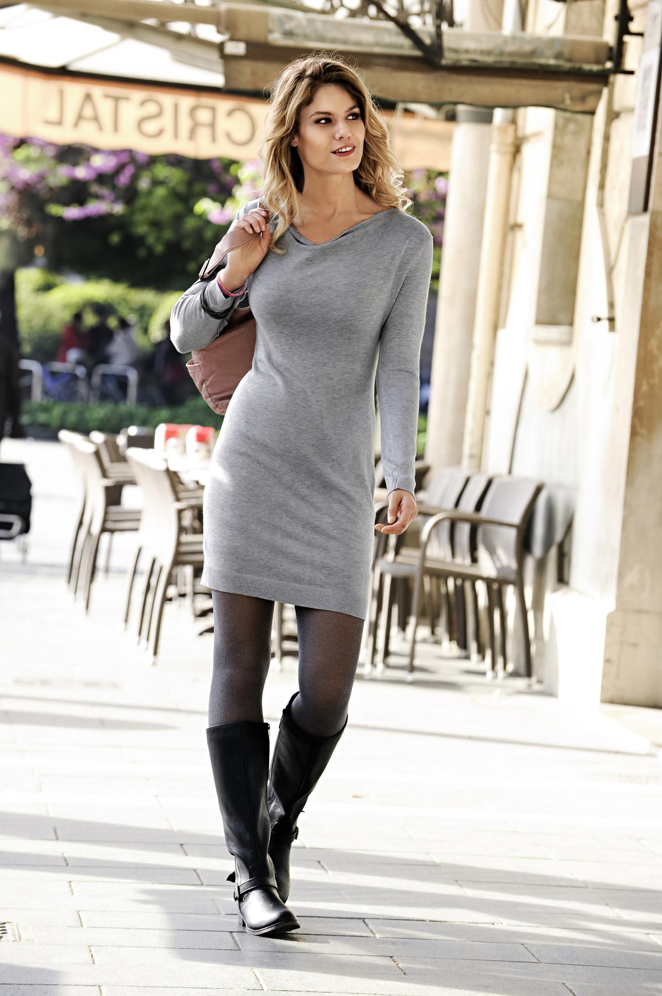 платья трикотажные теплые фото