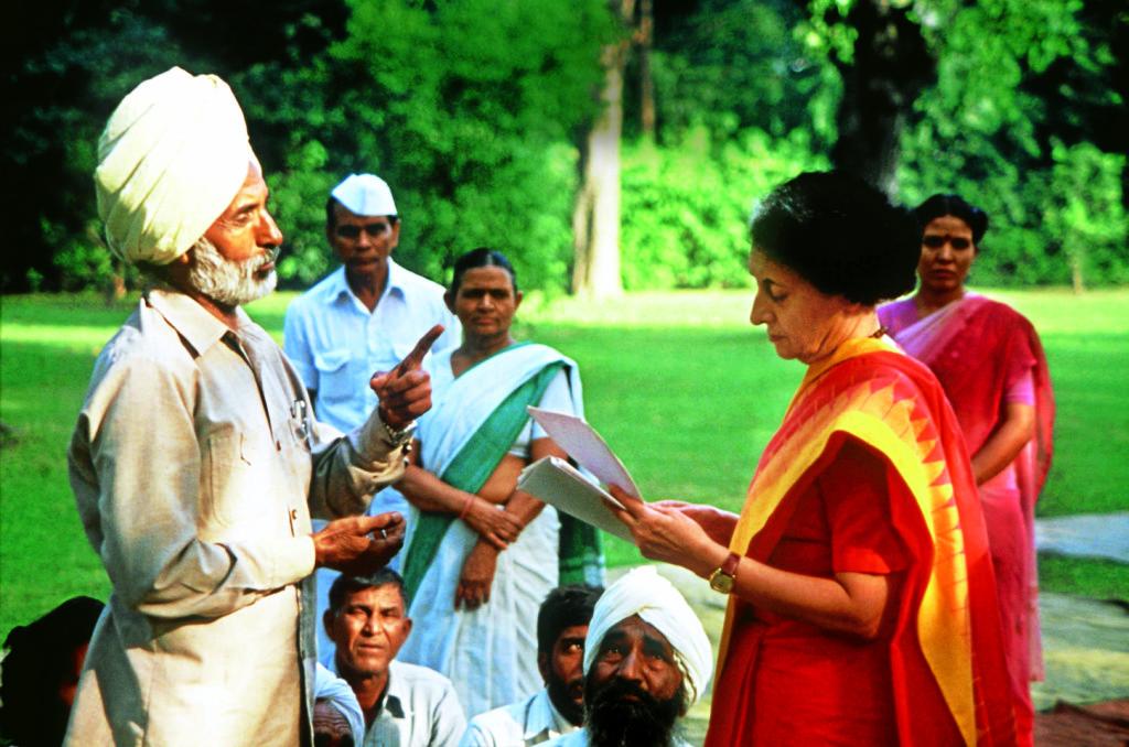 Встреча с сикхами. Индира умела разговаривать и с оппонентами. Фото: Burda Media