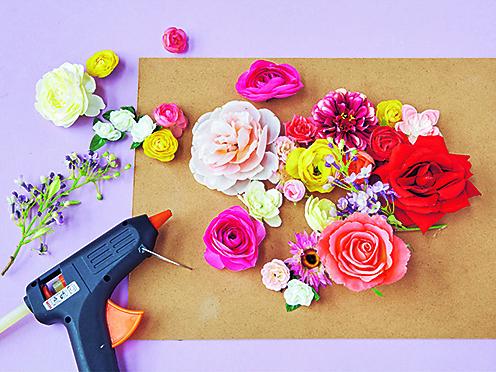 Цветочное панно шаг2