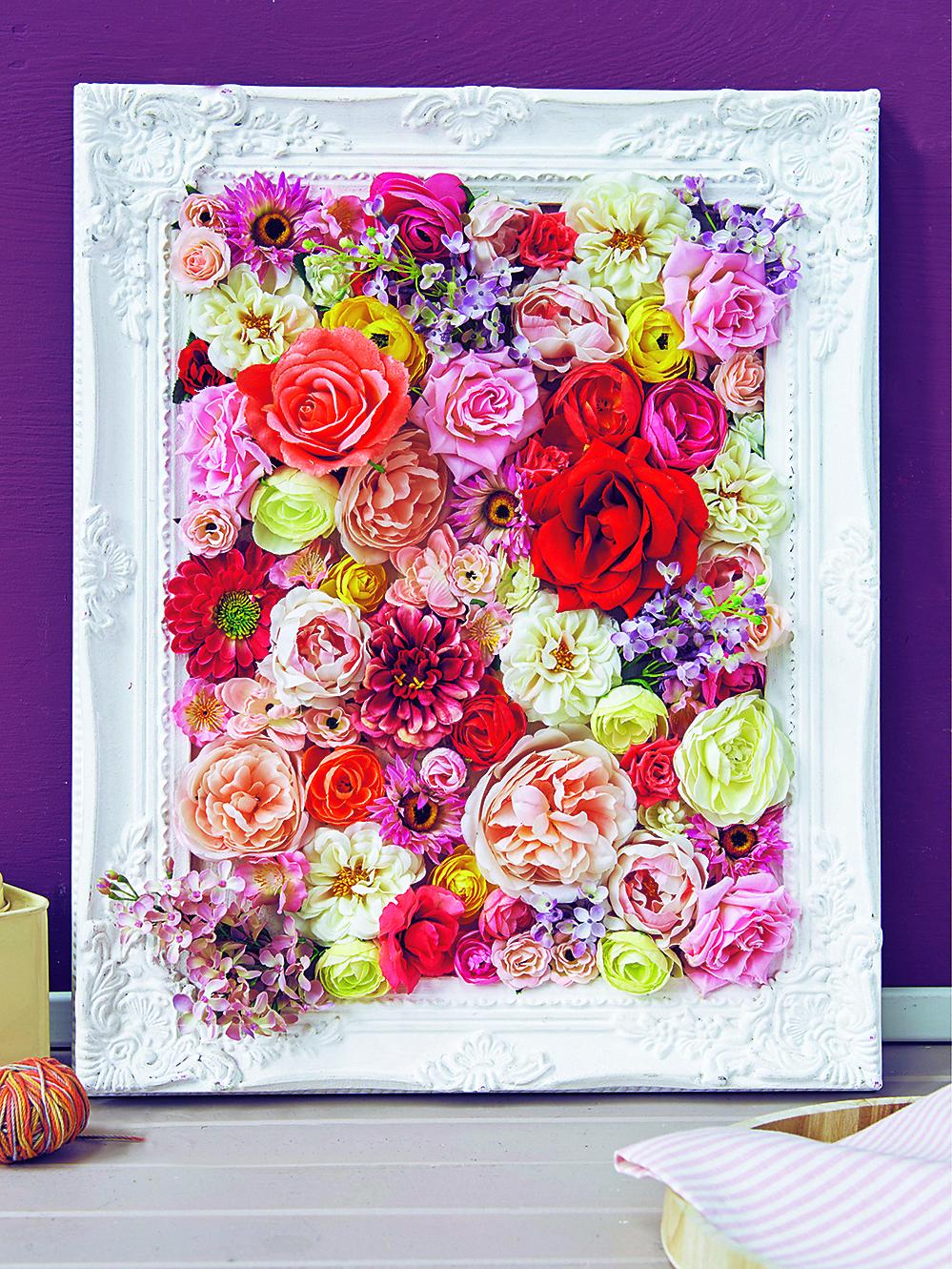 Панно из цветов фото