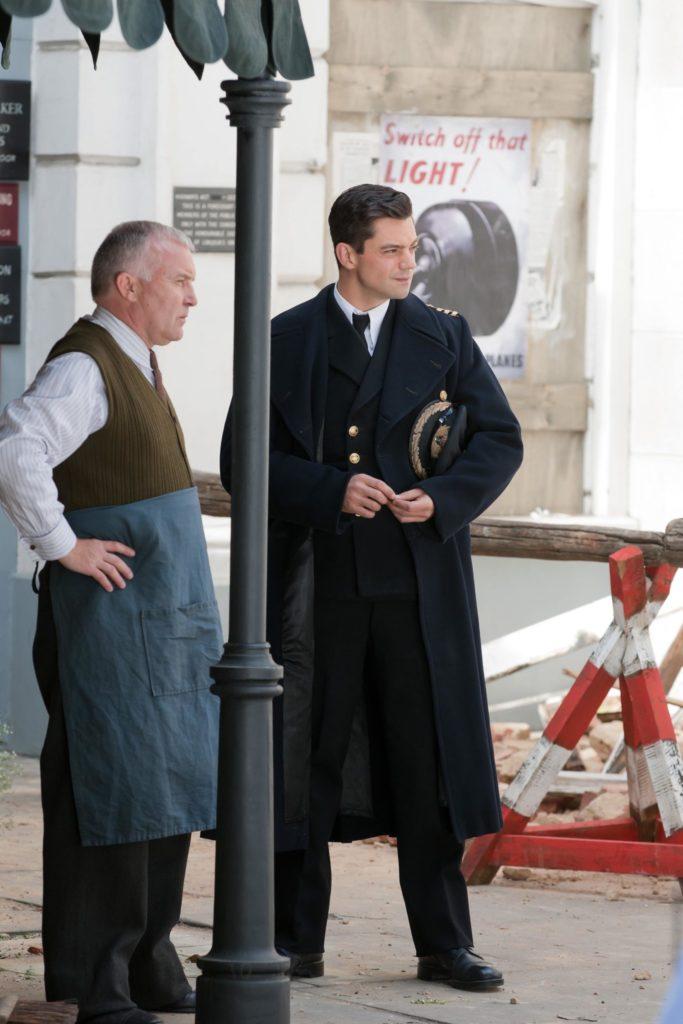 Британский актер Доминик Купер на съемках сериала «Флеминг» (2014). Legion-Media