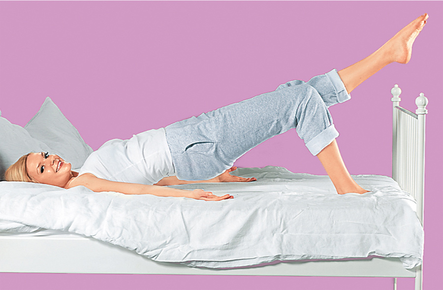 упражнение на кровати Полумост