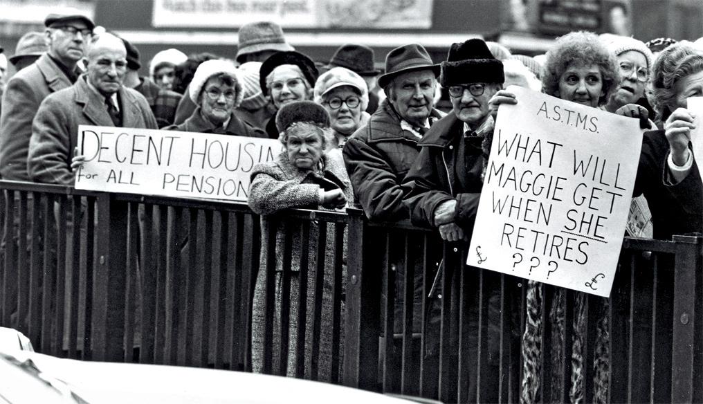 Демонстрации и стачки сопровождали все ее правление, но Тэтчер твердо держалась своих принципов. Фото: Burda-media