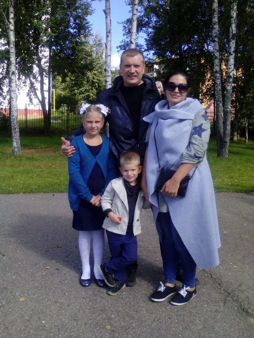 Татьяна и Евгений Конопкины с детьми