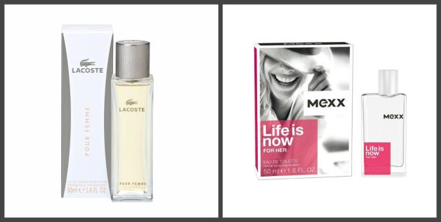 Lacoste Pour Femme и MEXX Life is Now
