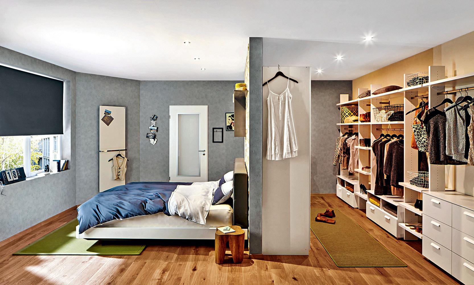 зонирование в спальне
