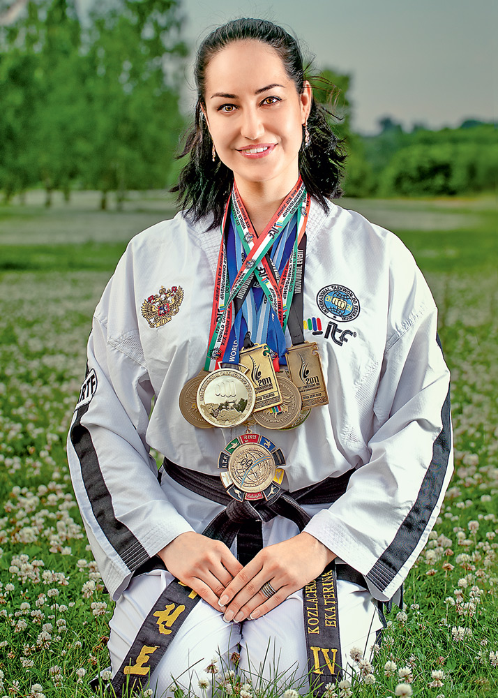 Катя Козлачкова с медалями