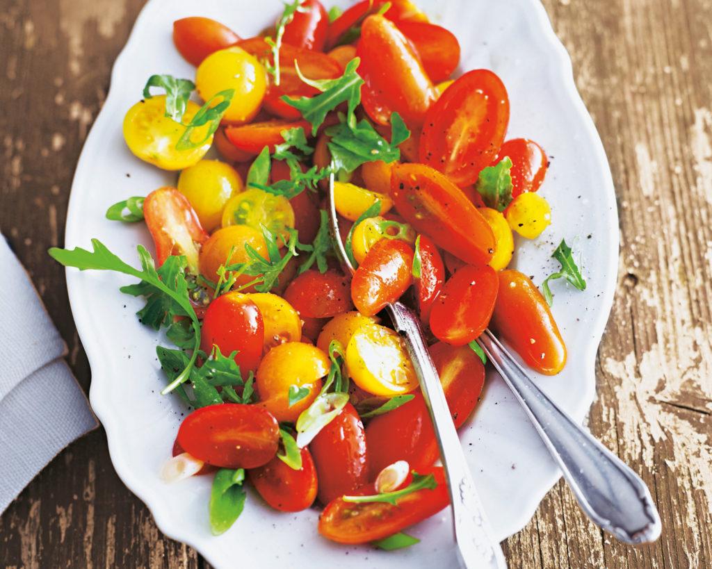 4 ярких рецепта с помидорами черри