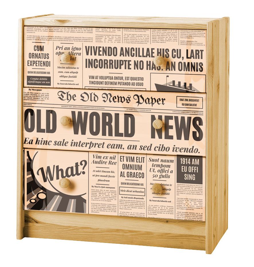 Превращение комода: необычное применение газеты