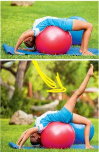 Фитбол: 4 упражнения на все группы мышц