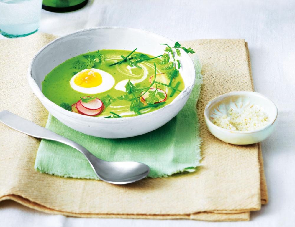 рецепт летнего супа с зеленью