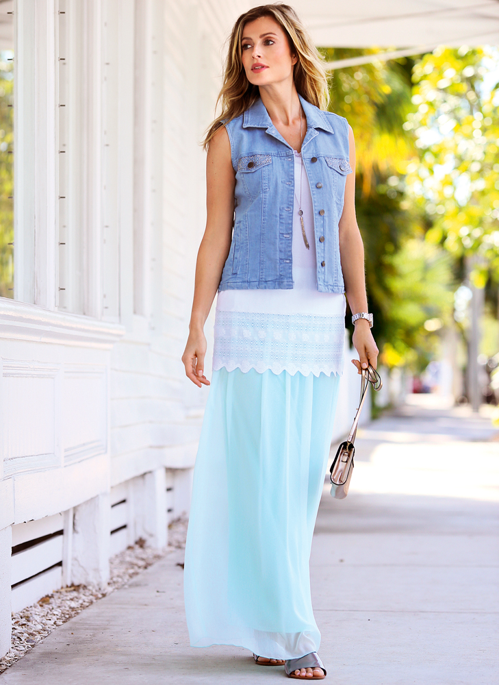 С чем носить длинную юбку: 5 актуальных образов