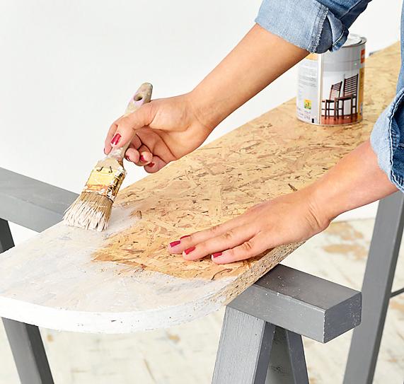 Полка с имитацией облицовки плиткой: мастер-класс