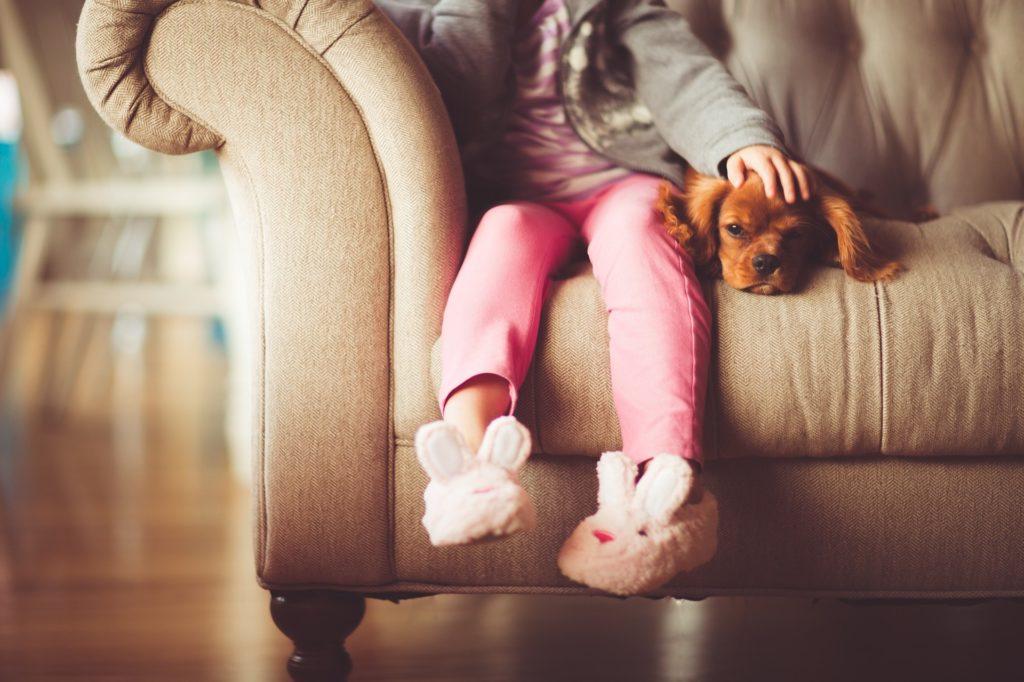 Подросшим детям нужно объяснить правила обращения с собакой