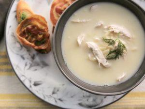 Греческий куриный суп с лимоном — 40 ккал