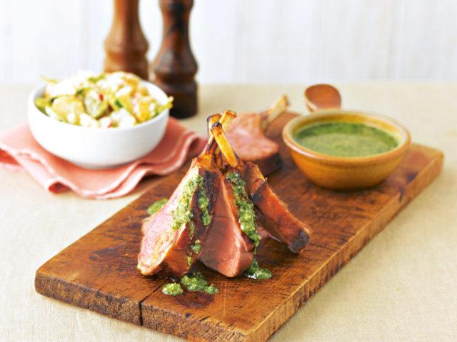 Котлеты с песто и салатом