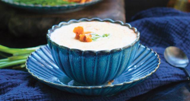 Сырный суп с грибами и репой