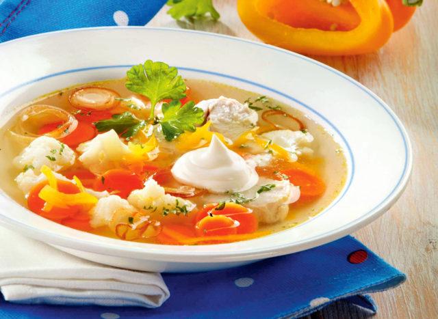 Легкий суп из цветной капусты