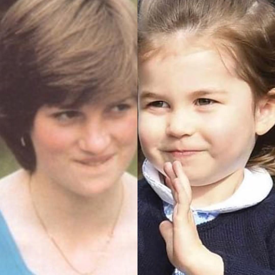 Поклонники обнаружили необычайное сходство маленькой дочери Кейт Миддлтон и принцессы Дианы