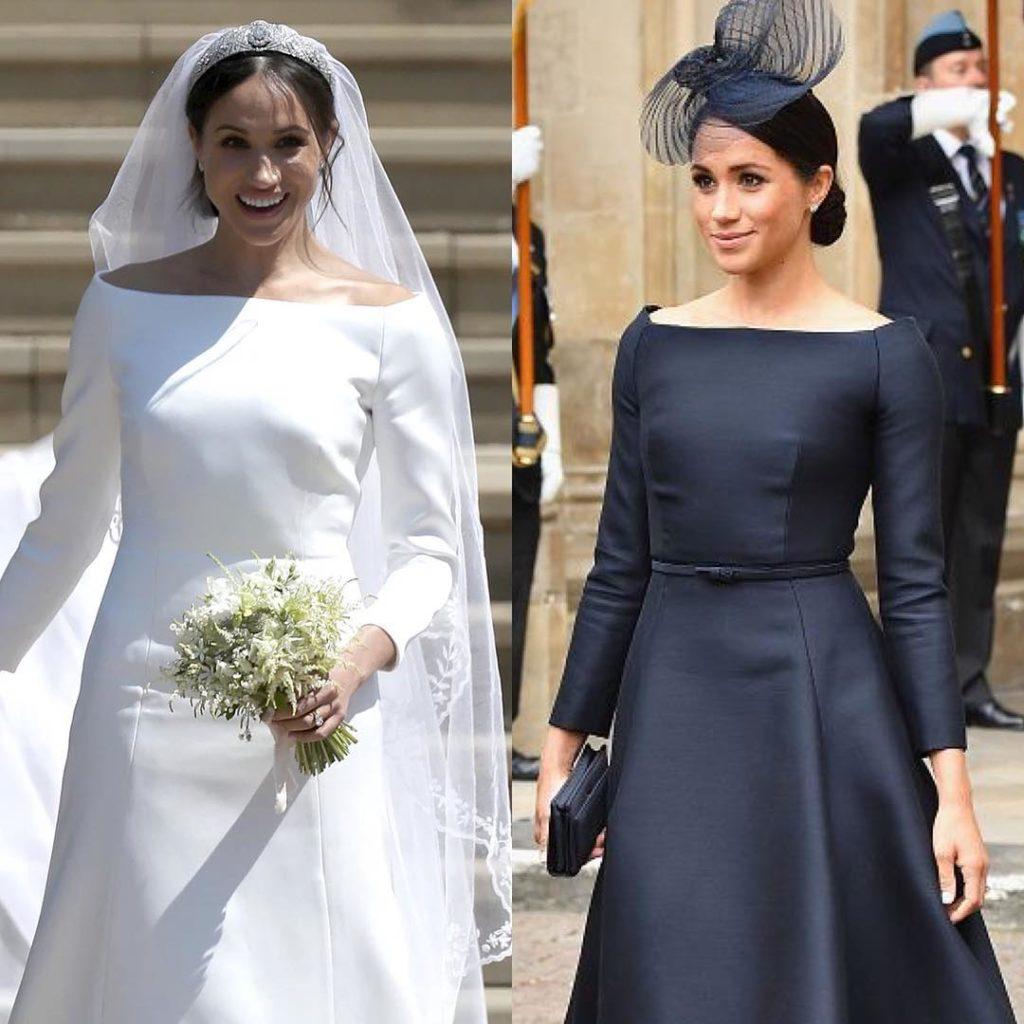 Недолго думая: Меган Маркл появилась вплатье-копии свадебного наряда